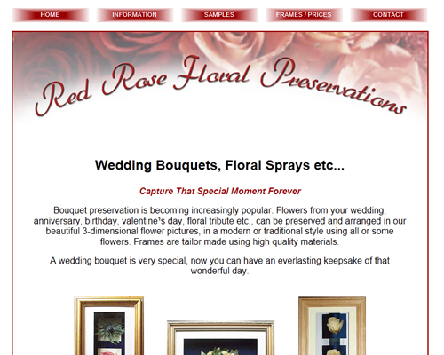 Red Rose Floral Preservations